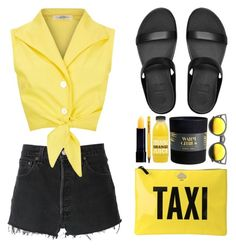 """""""Off 434"""" by juuliap ❤ liked on Polyvore featuring RE/DONE, Kate Spade, FitFlop and ZeroUV"""