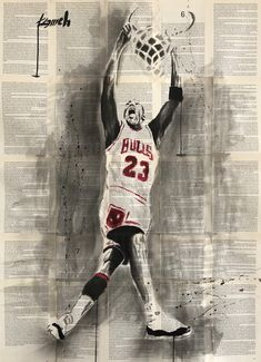 """""""Dunk"""" ink , acrylic drawing on bookpages by Hussein Tomeh Newspaper Art, Artworks, Ink, Drawings, Sports, Sketches, India Ink, Drawing, Portrait"""