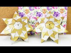 DIY Stern   flacher Bascetta Stern aus 21 Elementen mit 7 Zacken   3D Stern basteln - YouTube