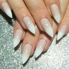 Baby Boomer French Tip Ombre Nails - Any Shape