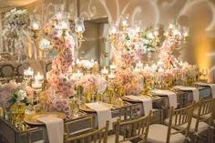 Image result for wedding tables gold