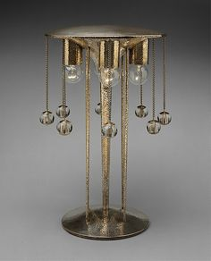 Table lamp  Josef Hoffmann  (Austrian, Pirnitz 1870–1956 Vienna)    Maker:      Konrad Schindel  Date:      1904