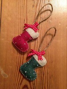 My Homemade Mini Stocking Felt Christmas Decorations