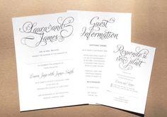 Simple Elegance Wedding Stationery Range by STNstationery on Etsy, £40.00