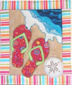 Flip flop quilt pattern available at Woo Hoo! http://www.patchabilities.com/shop/Patterns/Spring-and-Summer-Seasons/p/MM506-Flip-Flop-Splash-x6782026.htm