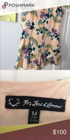 for love and lemons romper new without tags For Love and Lemons Dresses