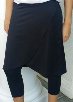 faux wrap skirt with attached legging