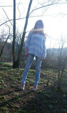 Lady at home DIY Blog: DIY Pastel sweater with SH Przeróbka pastelowego swetra z sh