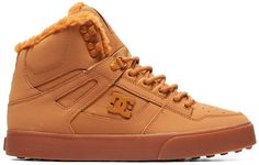 Leather and Textile Imported Synthetic sole Shaft measures approximately low-top from arch Wrap cup construction DC Trim Package High Top Sneakers, Beige Sneakers, High Top Boots, Sneakers Mode, Sneakers Fashion, High Tops, Mountain Silhouette, Wide Shoes, Slippers