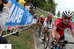 Pro Racer from Team Colombia racing with a Stradalli Carbon Road Bike at Richmond 2015 UCI Road World Championships
