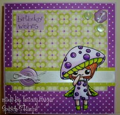 Mushroom Fae by Jessica for Spesch Designer Stamps. Tracey Feeger: Spesch stamps