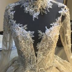 Retro Dresses Luxury / Gorgeous Vintage / Retro Champagne See-through Wedding Dresses 2019 Audrey Hepburn Style Ball Gown High Neck Long Sleeve Backless Appliques Lace Beading Glitter Tulle Cathedral Train Ruffle - Luxury Wedding Dress, Wedding Gowns, Ball Dresses, Bridal Dresses, Vintage Ball Gowns, Vintage Lace, Gowns With Sleeves, Mermaid Dresses, Retro Dress