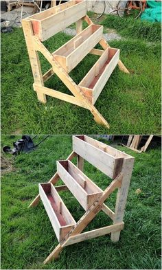 Easy and Clever DIY Projects with Used Wooden Pallets: You should create your home with such perfect wood pallet furniture ideas that each single person moving into your house. Wood Pallet Planters, Reclaimed Wood Furniture, Used Pallets, Wooden Pallets, Pallet Wood, Unique Home Decor, Home Decor Items, Pallet Designs, Pallet Ideas