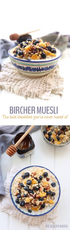 Made with nuts, dried and fresh fruit, almond milk and rolled oats, you will quickly discover why this is the best ever bircher muesli! Just whip up the night before, place in the refrigerator and you have breakfast waiting for you in the morning. This is the easiest and most delicious breakfast you've never heard of!