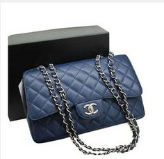 Chanel Caviar Leather Bag 36076 Blue Sku:ChanelBag-61 Special Price:$198.00