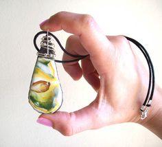 Lava rock jewelry Mt Etna drop ceramic jewelry by Pietralavica, €17.50