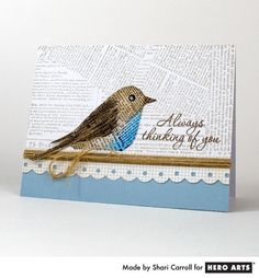 Stamped Bird Card