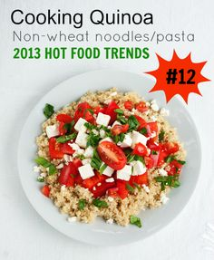 QUINOA is a protein powerhouse to create nutrient rich one bowl healthy tasty meals.