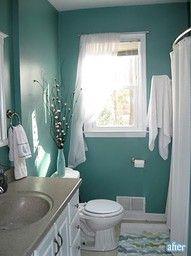 bathroom ideas - love the color