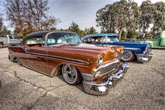 Vintage Cars, Antique Cars, Traditional Hot Rod, Chevrolet Bel Air, Car Painting, Sled, Kustom, Root Beer, Custom Cars