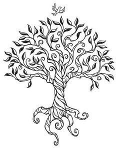 48 best ideas wood burning patterns celtic tree of life Wood Burning Crafts, Wood Burning Patterns, Wood Burning Art, Engel Tattoos, Pyrography Patterns, Celtic Tree, Trendy Tree, Grandparents Day, Grandparents Tattoo