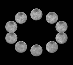 On approach to the Pluto system in July 2015, the cameras on NASA's New Horizons spacecraft captured images of the largest of Pluto's five moons, Charon, rotating over the course of a full day. The best currently available images of each side of Charon taken during approach have been combined to create this view of a full rotation of the moon.