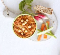 Chargrilled veg houmous with dippers