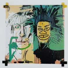 """thefiftyeight:  """" Jean-Michel Basquia and Andy Warhol - Self Portrait  """""""
