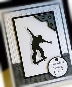 Me, My Stamps and I: Skateboard Kid Boy Cards, Kids Cards, Cute Cards, Men's Cards, Greeting Cards, Birthday Cards For Boys, Happy Birthday Cards, Teen Birthday, Male Birthday
