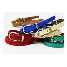 2015 Women's Ladies' Leather Brighton Look Braided Tassle Metal Chain Link Belt