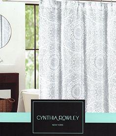 cynthia rowley ornate medallion fabric shower curtain 72inch by 72inch shower curtain