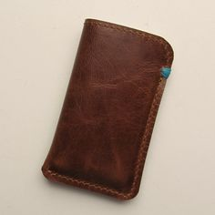 Leather case for iPod Nano Multi Touch 7th in medium brown, handmade by RinartsAtelier