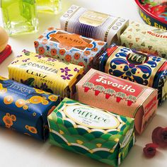 Claus Porto portuguese bath soaps since 1887 - gorgeous packaging and delicious scents
