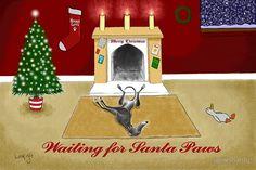 Waiting For Santa Paws
