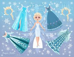 elsa, frozen | paper dolls by cory