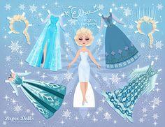 Elsa Disney's Frozen Paper Dolls | SKGaleana