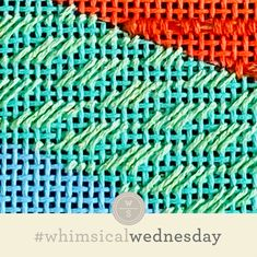#whimsicalwednesday blog — whimsicalstitch.com Needlepoint Stitches, Needlework, I Respect You, Color Lines, All The Colors, Whimsical, Cross Stitch, Embroidery, Eyes