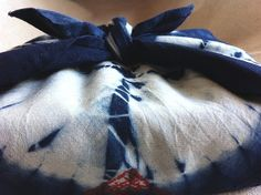 Kumo shibori furoshiki by SOFennell, via Flickr