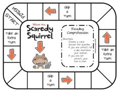 First Grade a la Carte: Scaredy Squirrel free board game Library Games, Library Lessons, Library Ideas, Art Lessons, Scaredy Squirrel, Teaching Language Arts, Language Activities, First Grade Classroom, Author Studies