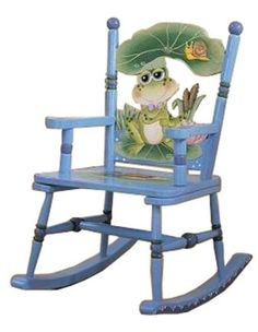 painted children chairs   Froggy Rocking Chair - Kids Decorating Ideas