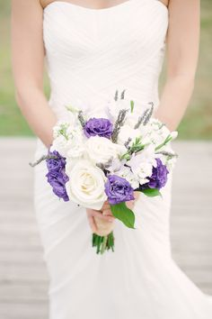 #Lavender #Purple Wedding Colors | #Bouquet | See the wedding on SMP - http://www.StyleMePretty.com/new-jersey-weddings/jersey-city/2014/01/02/liberty-house-wedding/ Brklyn View Photography