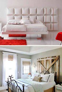 Ideas para hacer cabeceros originales y baratos Bedrooms