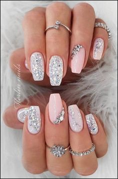 35 Simple Ideas for Wedding Nails Designnude glitz lookSpring fever nails 90 super cute spring nails page 27 RelatedWow love these fall nail designs. Cute Acrylic Nails, Acrylic Nail Designs, Nail Art Designs, Acrylic Art, Ombre Nail Designs, Pretty Nail Designs, Pastel Nails, Art Nails, Long Nails