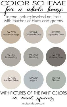 6 Fabulous Cool Ideas: Natural Home Decor Rustic Master Bath natural home decor earth tones brown.Natural Home Decor Ideas Air Freshener natural home decor earth tones design seeds.Natural Home Decor Rustic Lamps. Interior Paint Colors, Paint Colors For Home, Paint Colours, Best Neutral Paint Colors, House Color Schemes Interior, Living Room Paint Colors, Neutral Kitchen Colors, Fixer Upper Paint Colors, Kitchen Color Schemes