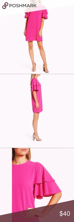e06e0d344d81 Felicity and Coco Ruffle Shift Dress In Magenta Felicity and Coco shift  dress. Comfortable and