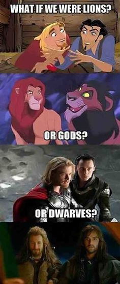 It's not Disney, but still fantastic! ///Um, the lions are from the Lion King an doesn't Disney own Marvel now? Humor Disney, Funny Disney Memes, Funny Marvel Memes, Marvel Jokes, Marvel Avengers, Punk Disney, Disney Facts, Funny Shit, Stupid Funny Memes