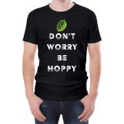#Beershield Dont Worry Be Hoppy Mens T-Shirt - M - Black #This light hearted T-shirt is the perfect gift for any beer fan. Crafted from 100% soft Cotton this regular fit T-Shirt has a stylised beer themed print on the front, a crew neck and short sleeves. Perfect for any dedicated hop fan! T-Shirts are 100% Cotton Ethically Sourced Slim fit - if that™s not your thing, order a size up
