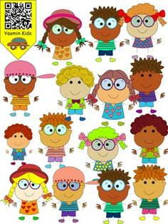 Yasmin Kids are so much cute.This set contains 56 image files in png and jpg.All images are 300 dpi for better scaling and printing. You will recieve: 13 Boys color ,black&white png images. 15 girls color ,black&white png images. 13 Boys color ,black&white jpg images. 15 girls color ,black&white jpg images.