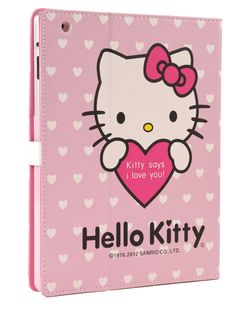 Give your iPad the Hello Kitty treatment with this wonderful folio iPad case that tells you it loves you every time you look at it! £9.21  http://childproofmytablet.com/hello-kitty-ipad-case/  #hellokitty #ipadcase #cute #ipad #foliocase #kawaii