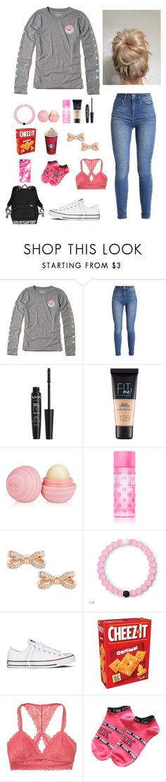 """"""""""" just a casual Wednesday """" 🍁💖"""" by seashore77 ❤ liked on Polyvore featuring Hollister Co., NYX, Maybelline, Eos, Victoria's Secret PINK, Ted Baker, Converse, Victoria's Secret and Casetify"""